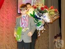 2. Игорь Денисов за победу на Первенстве России и Украины получил стипендию мэра г.Белгорода.